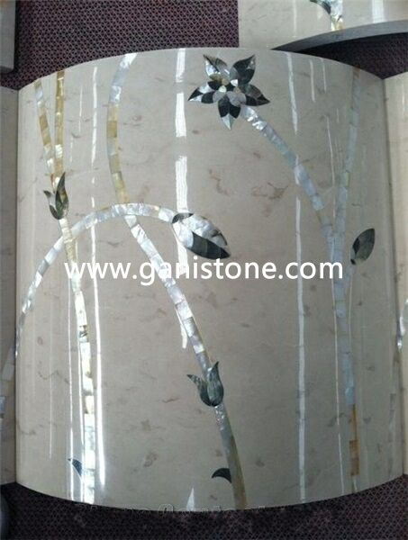 Marble Mixed Waterjet Shell Column