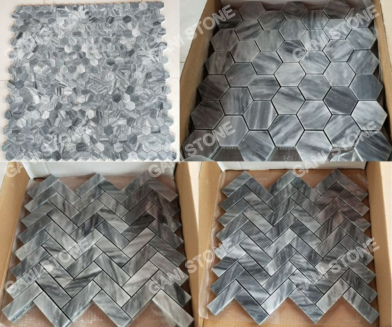 Bardiglio Marble Mosaic Packing