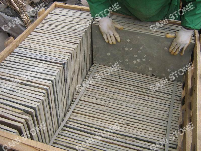 Slate Tile Wooden Crate Packing