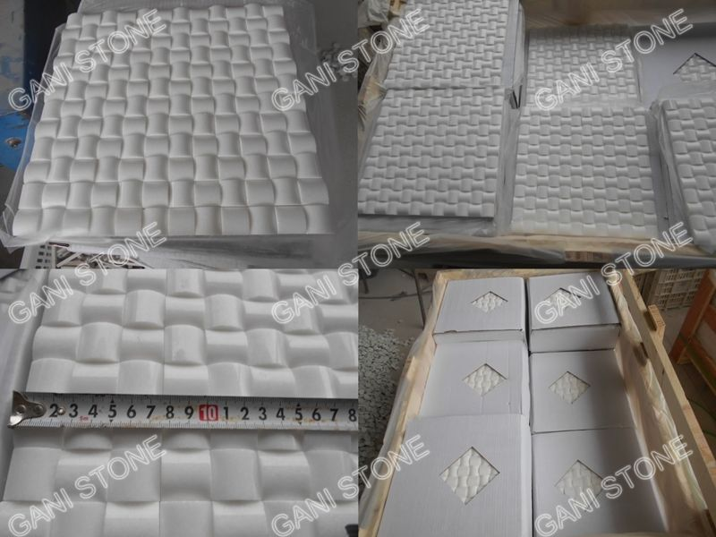 Thassos White Marble Mosaic Packing