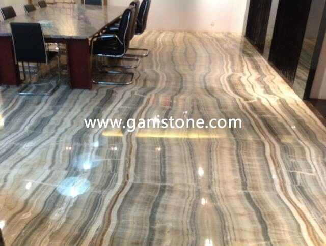 Clear River Onyx Bookmatch Flooring