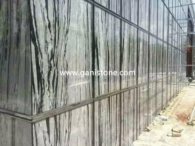 Cloudy Black Marble Wall Cladding