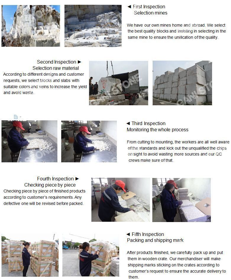 Marble Mosaic 4 Steps Quality Inspection