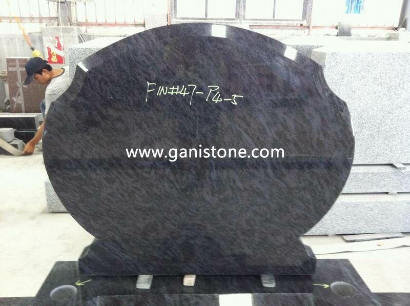 Bahama Blue Granite Headstones 001